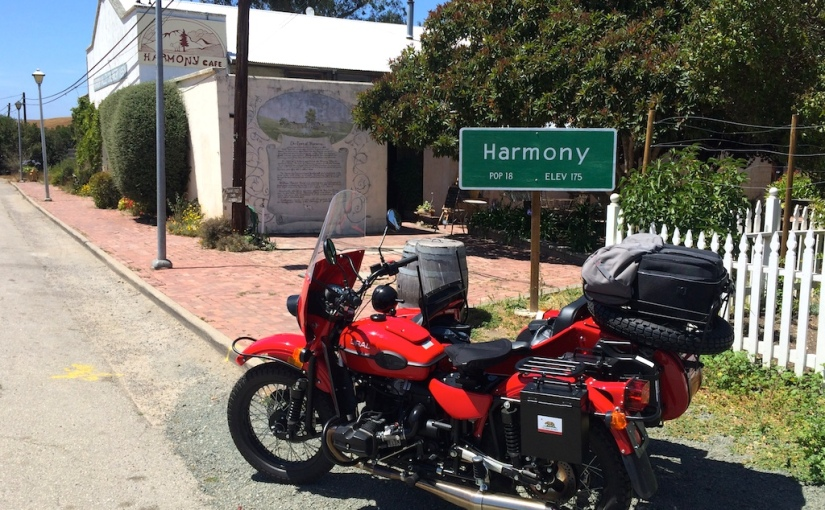 Sidecar ride up coast of California Part3
