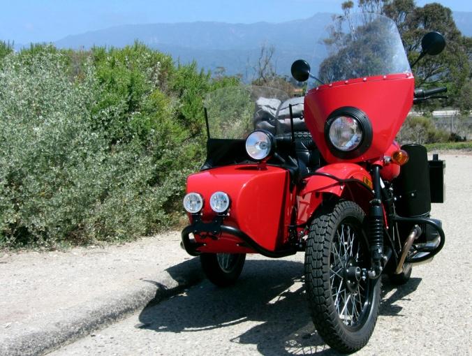 Sidecar ride up coast of California Part1